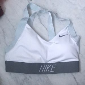 Nike sports bra, white